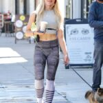 Emma Slater in a Grey Top Was Seen Out with Sasha Farber in Studio City