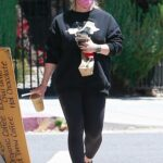 Hilary Duff in a Black Outfit Was Seen Out in Studio City
