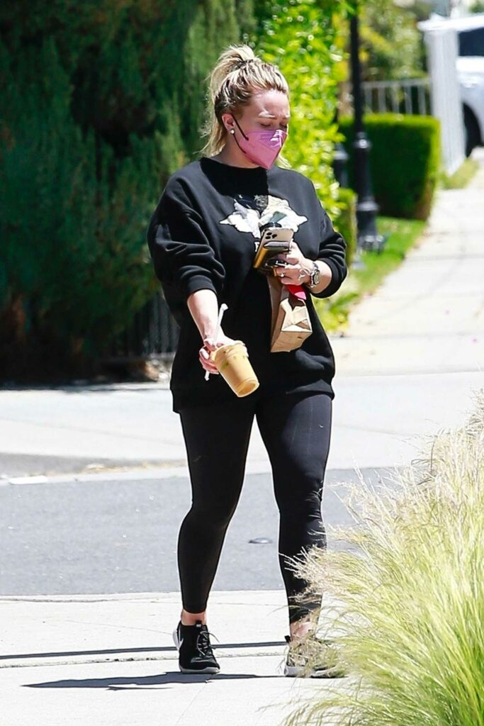 Hilary Duff in a Black Outfit