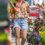 Isla Fisher in a Floral Blouse Does a Weekend Trip to Her Local Hardware Store in Sydney