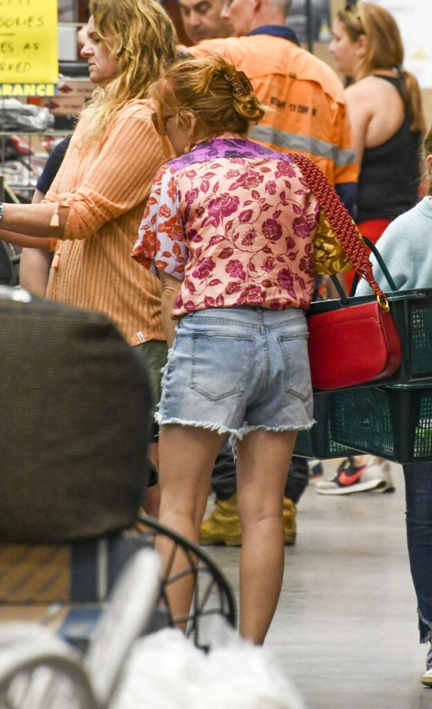 Isla Fisher in a Floral Blouse