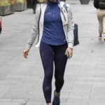 Jenni Falconer in a Blue Sneakers Leaves the Global Radio in Leicester Square, Central London
