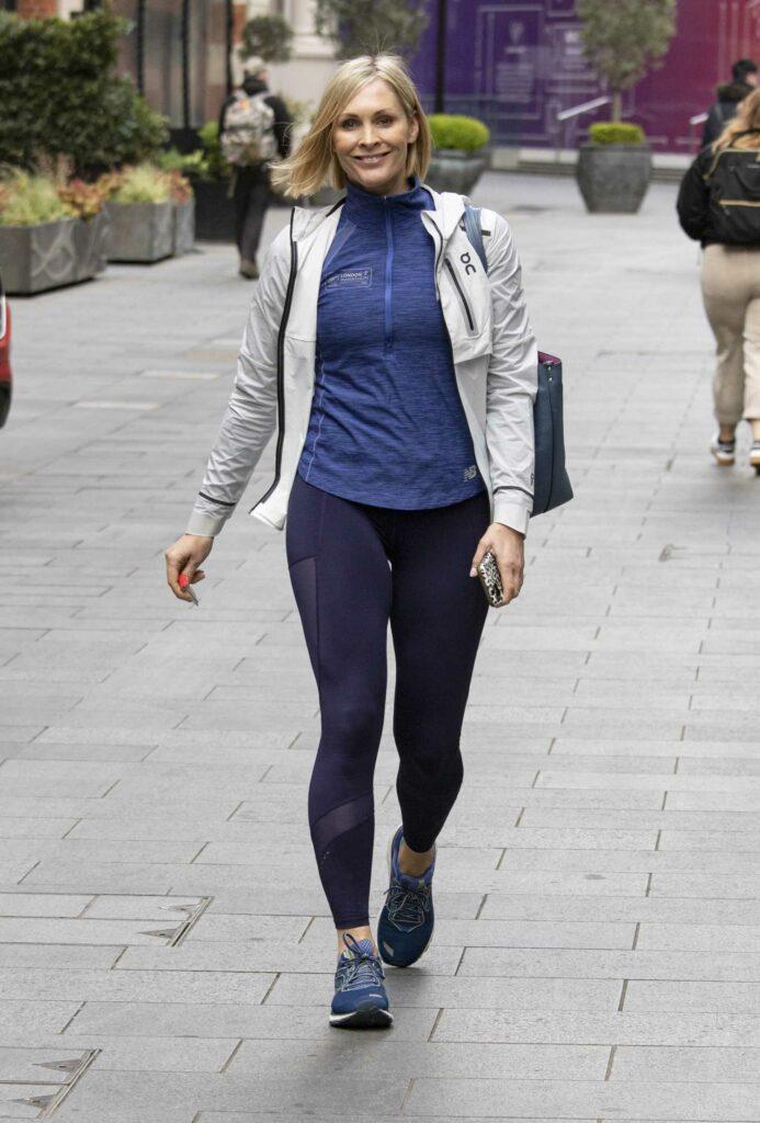 Jenni Falconer in a Blue Sneakers