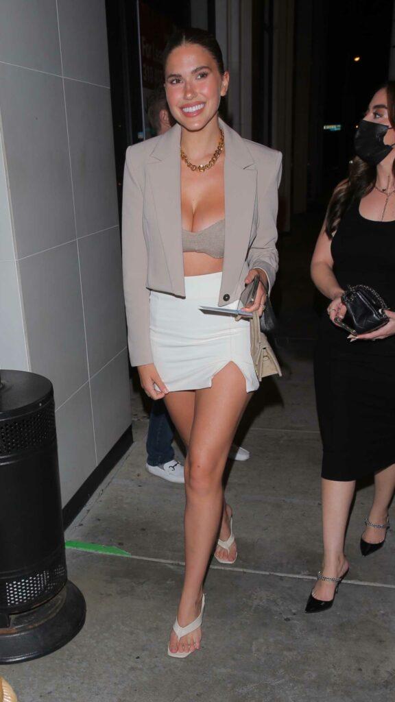 Kara Del Toro in a White Mini Skirt