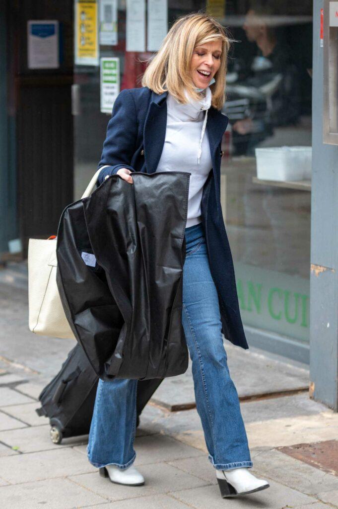 Kate Garraway in a Black Coat