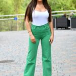 Kelsey Stratford in a Grren Pants at The Only Way is Essex TV Show Filming in Chelmsford