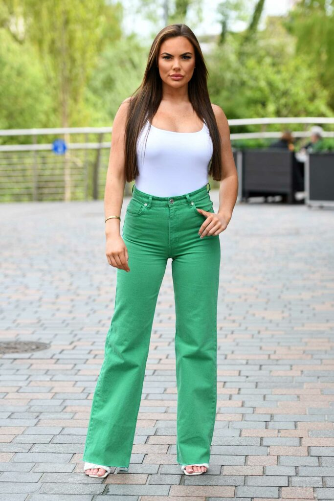 Kelsey Stratford in a Grren Pants