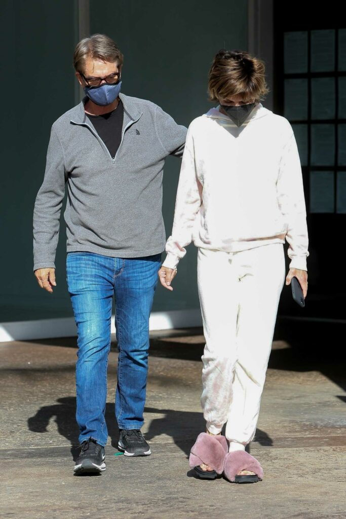 Lisa Rinna in a White Sweatsuit