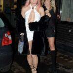 Lottie Moss in a White Mini Dress Leaves the Louie Restaurant in Covent Garden in London