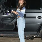 Madison Beer in a Blue Jeans Heads to Nobu in Malibu