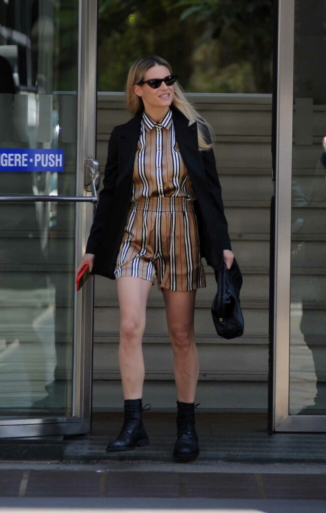Michelle Hunziker in a Black Blazer