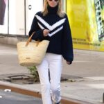 Nicky Hilton in a White Pants Was Seen Out in New York