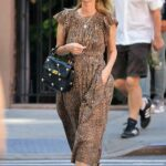 Nicky Hilton in an Animal Print Dress Was Seen Out in New York