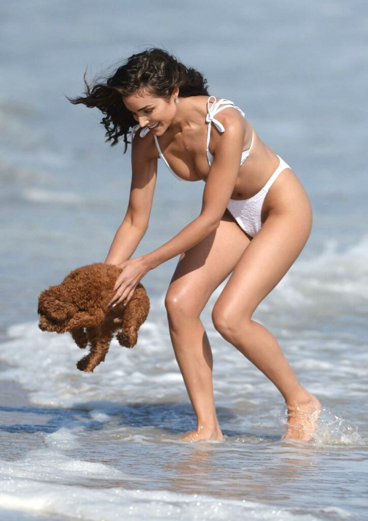Olivia Culpo in a White Bikini