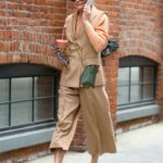 Olivia Palermo in a Beige Outfit Was Seen Out in Brooklyn, NYC