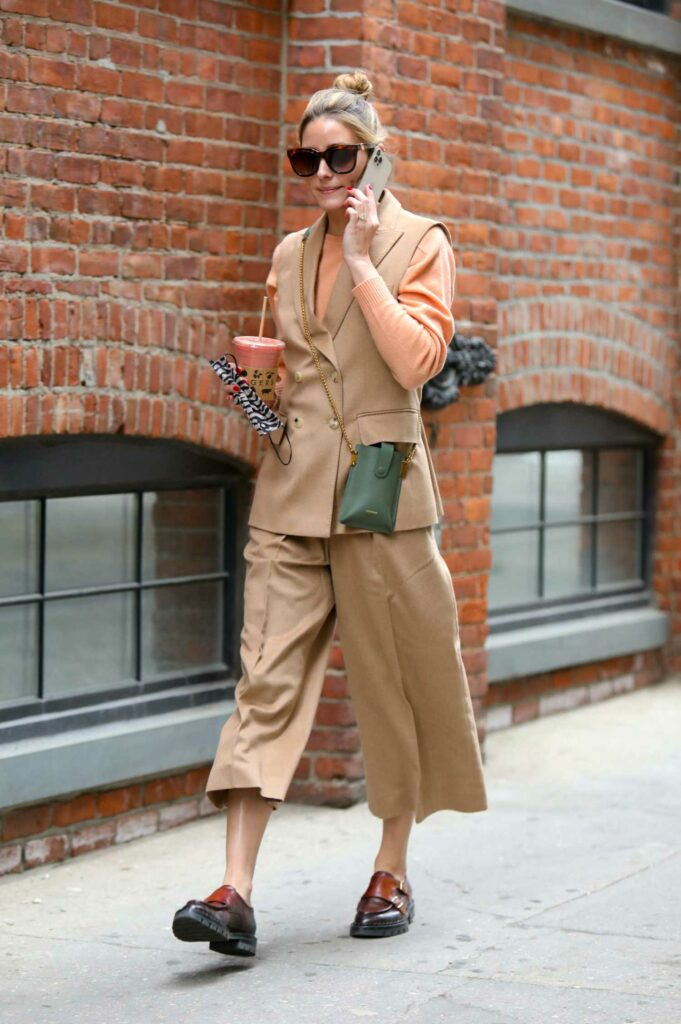 Olivia Palermo in a Beige Outfit