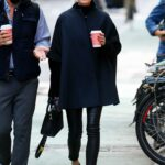 Olivia Palermo in a Black Pants Was Seen Out for a Coffee Run in Tribeca, New York