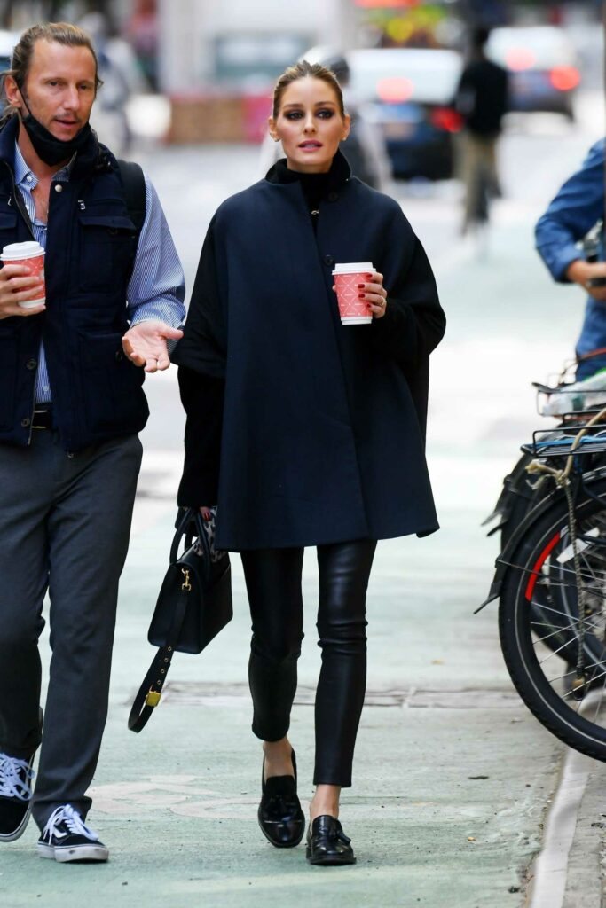 Olivia Palermo in a Black Pants