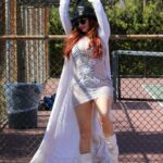 Phoebe Price in a Black Knit Hat Was Seen at the Tennis Courts in Los Angeles