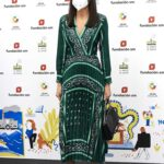 Queen Letizia of Spain in a Green Dress Attends the 43rd SM Awards in Madrid