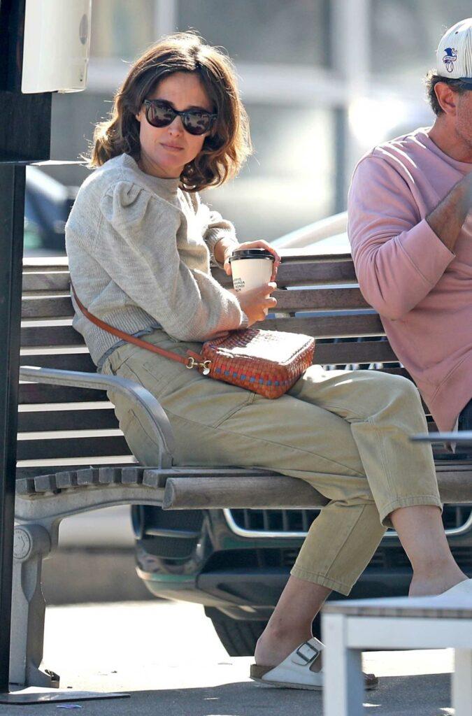 Rose Byrne in a Grey Sweater