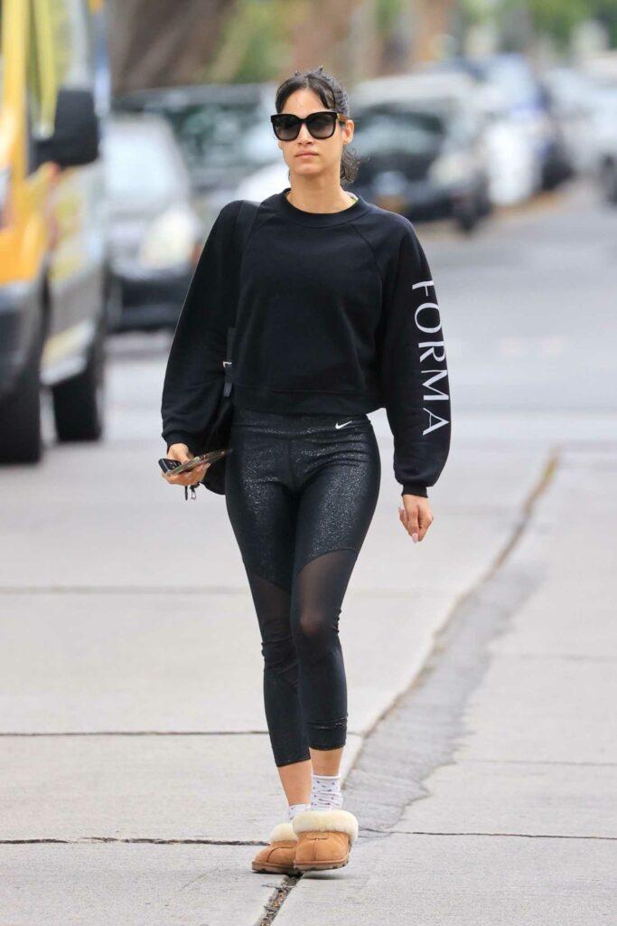 Sofia Boutella in a Black Sweatshirt
