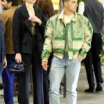 Sophie Turner in a Black Pantsuit Steps Out for a Romantic Dinner Date with Joe Jonas at Il Pastaio in Beverly Hills