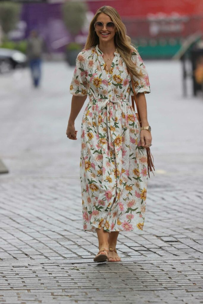 Vogue Williams in a Floral Dress