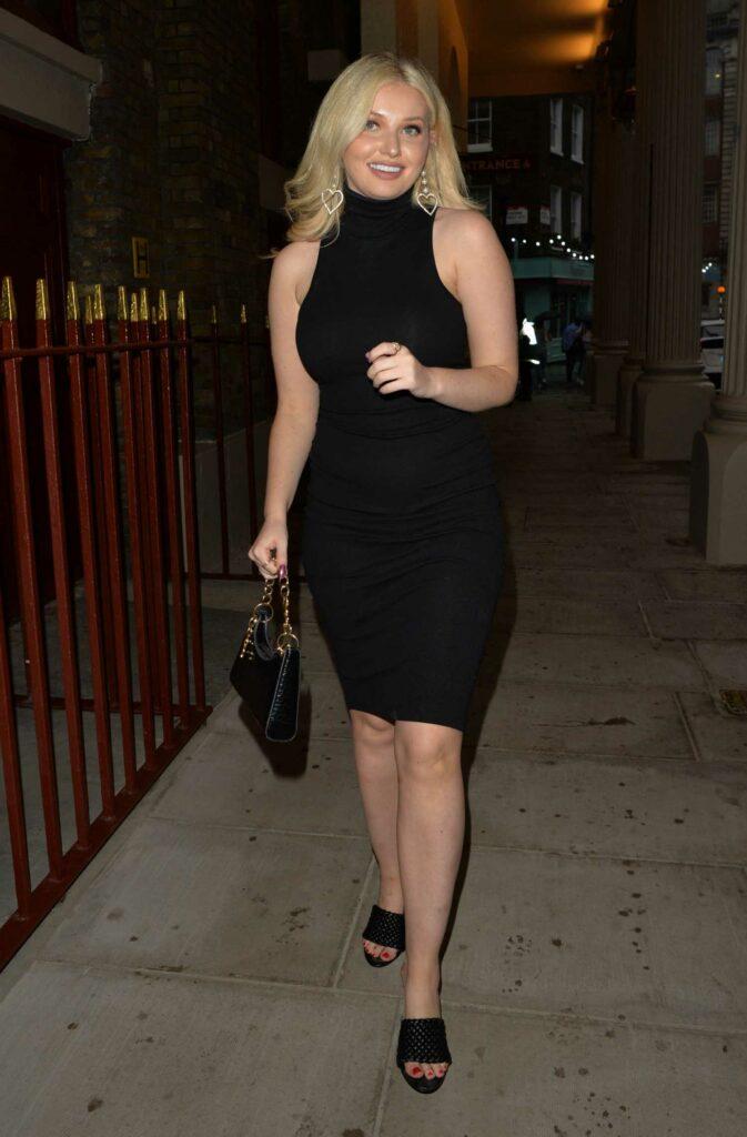 Amy Hart in a Black Dress