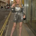 Amy Hart in a Silver Mini Dress Was Seen Out in London