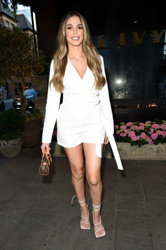 Beth Dunlavey in a White Outfit