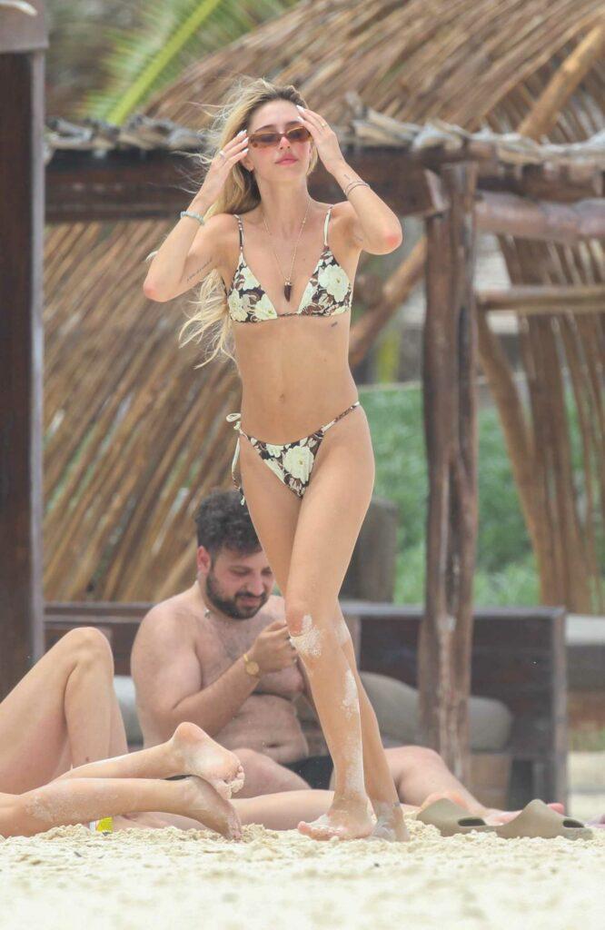 Delilah Hamlin in a Floral Bikini
