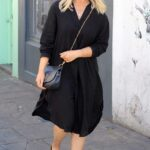 Emily Atack in a Black Dress Was Seen Out in Soho, London