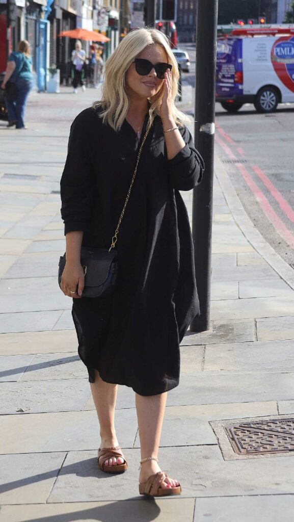 Emily Atack in a Black Dress