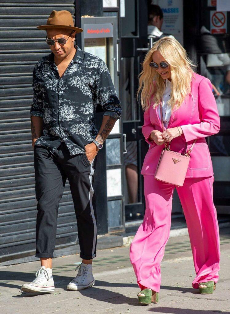 Emma Bunton in a Pink Pantsuit