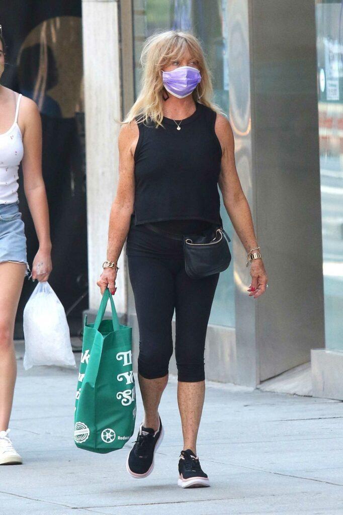 Goldie Hawn in a Black Tank Top