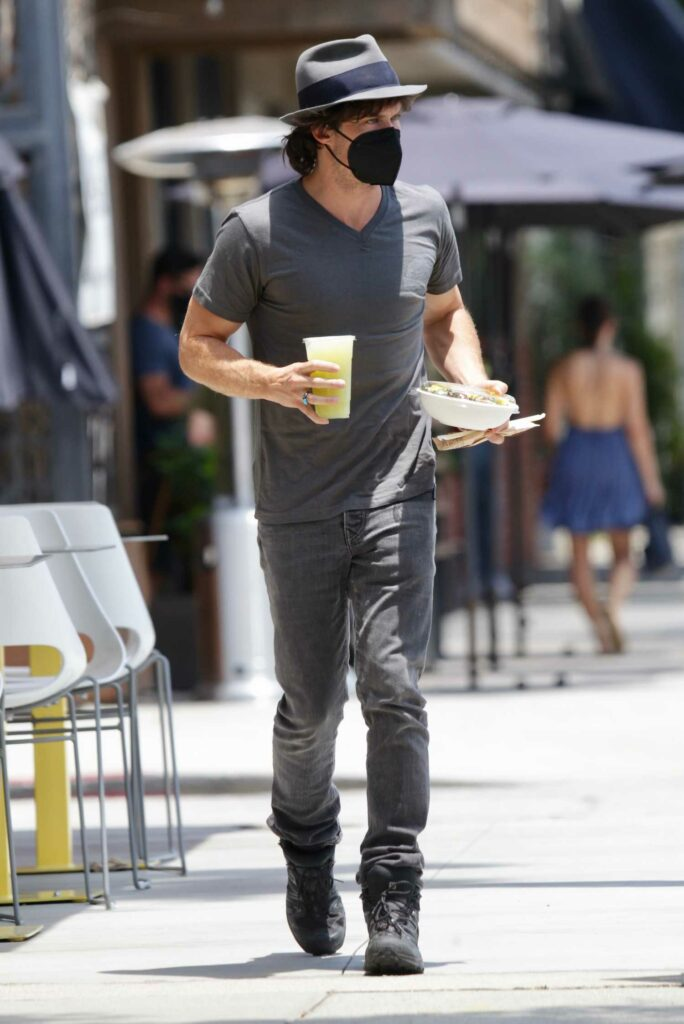 Ian Somerhalder in a Grey Tee