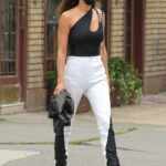 Irina Shayk in a Black and White Outfit Was Seen Out in New York