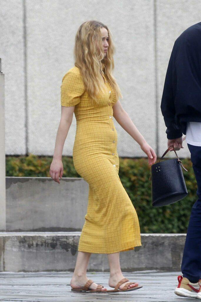 Jennifer Lawrence in a Yellow Dress
