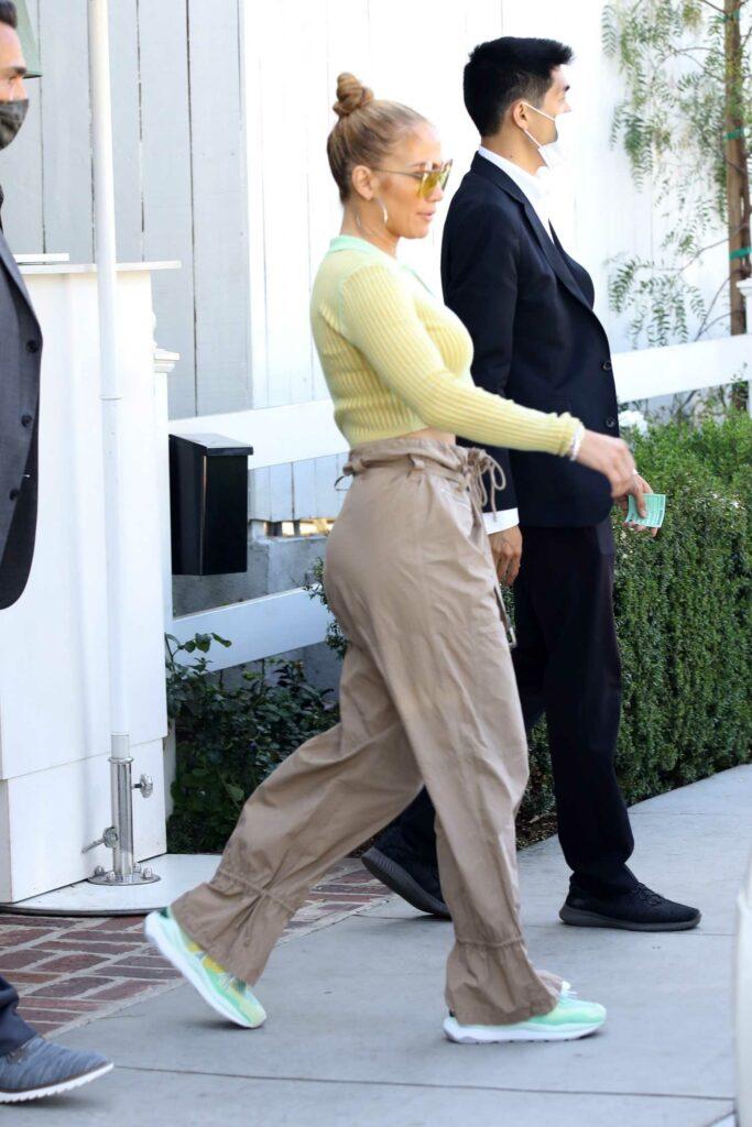 Jennifer Lopez in a Yellow Top