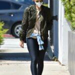 Kate Mara in a Black Leggings Was Seen Out in Los Angeles