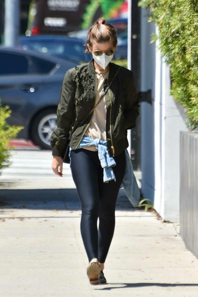 Kate Mara in a Black Leggings