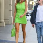 Kelly Bensimon in a Neon Green Dress Was Seen Out in New York