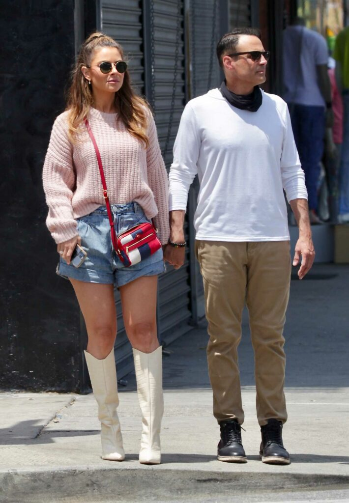 Maria Menounos in a Pink Sweater
