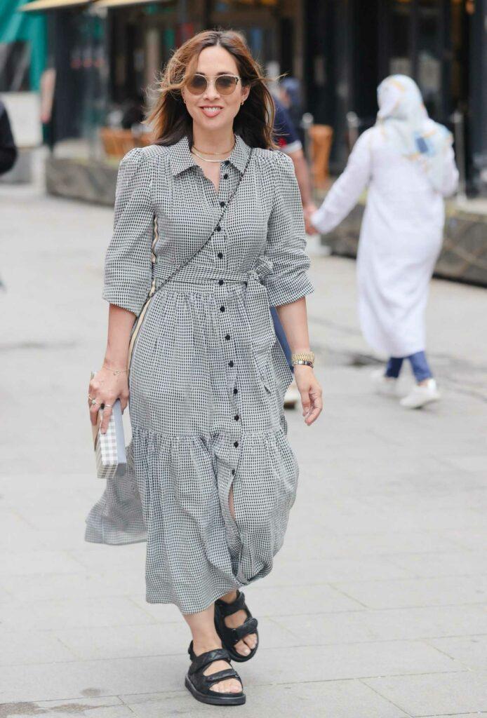 Myleene Klass in a Checked Dress