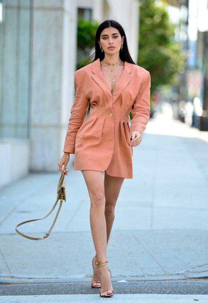 Nicole Williams in a Pink Blazer