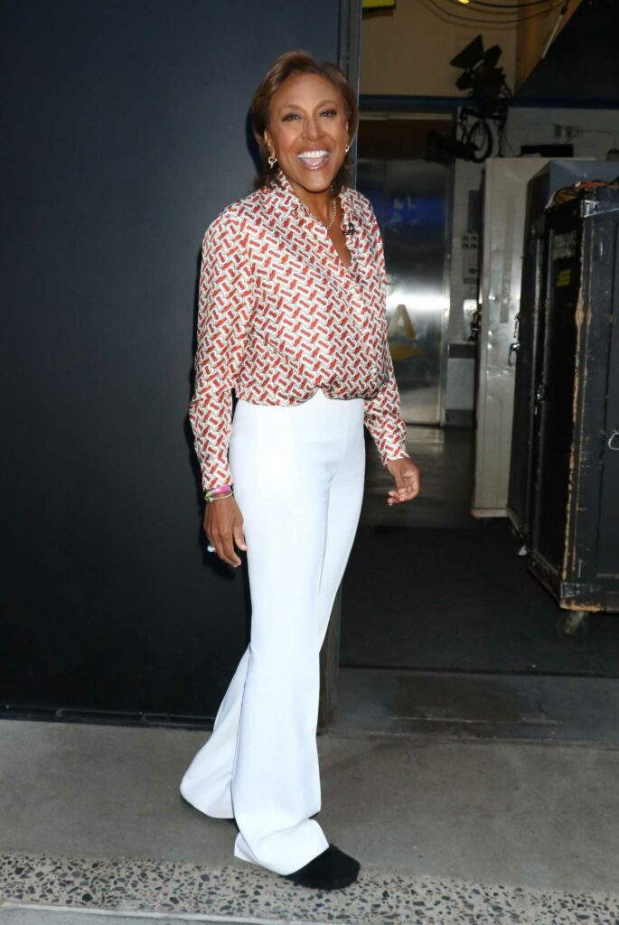 Robin Roberts in a White Pants