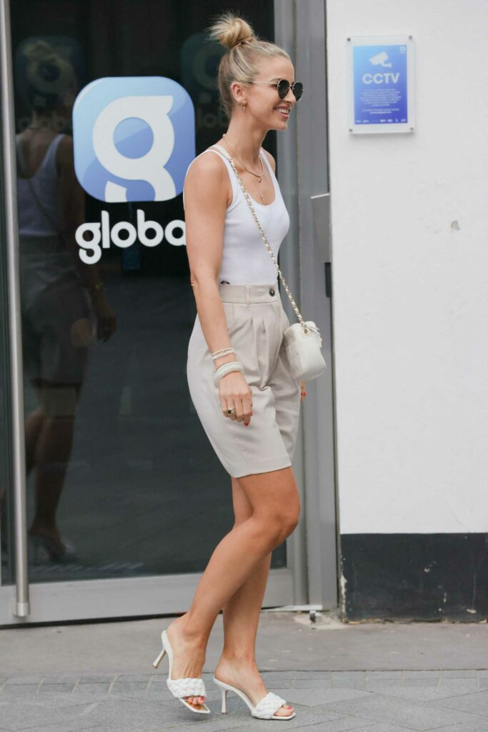 Vogue Williams in a White Tank Top