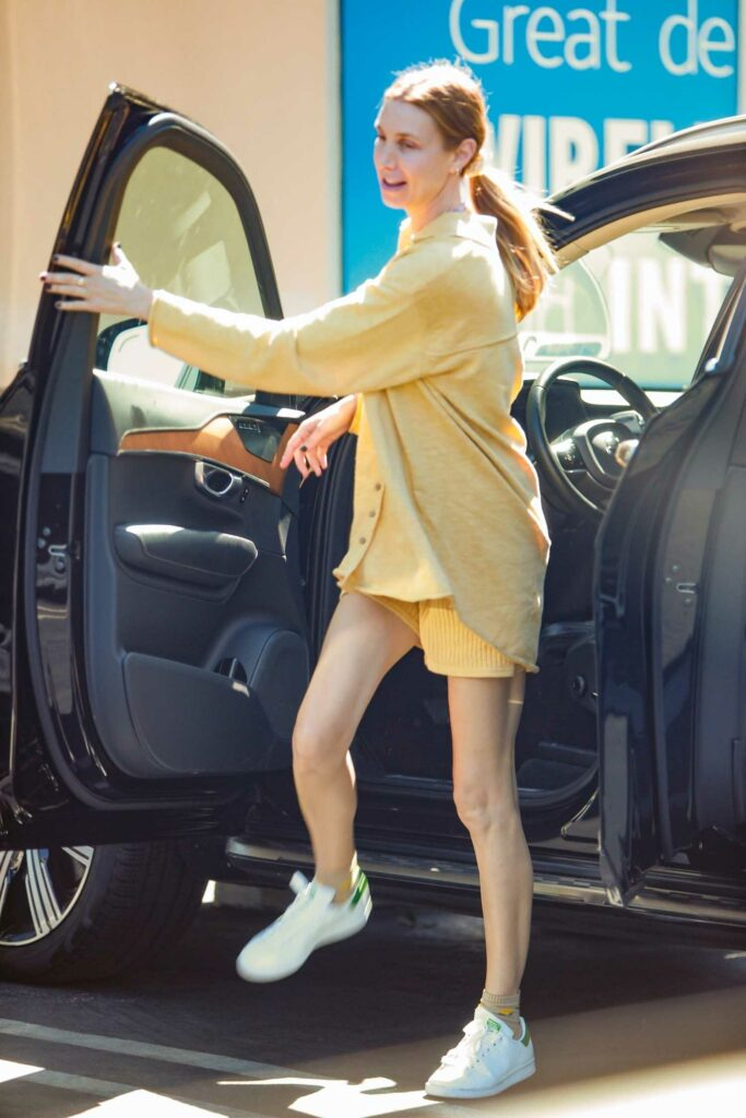 Whitney Port in a Yellow Outfit