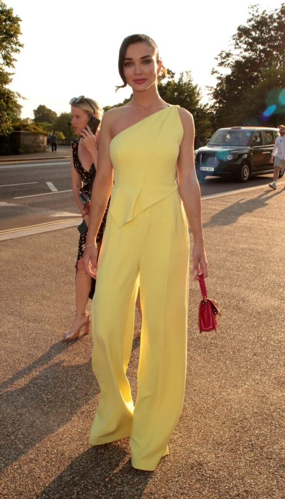 Amy Jackson in a Yellow Outfit